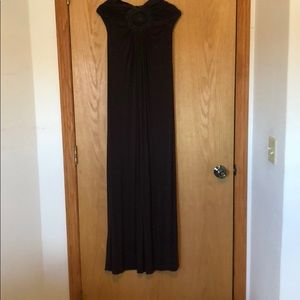 Strapless brown dress